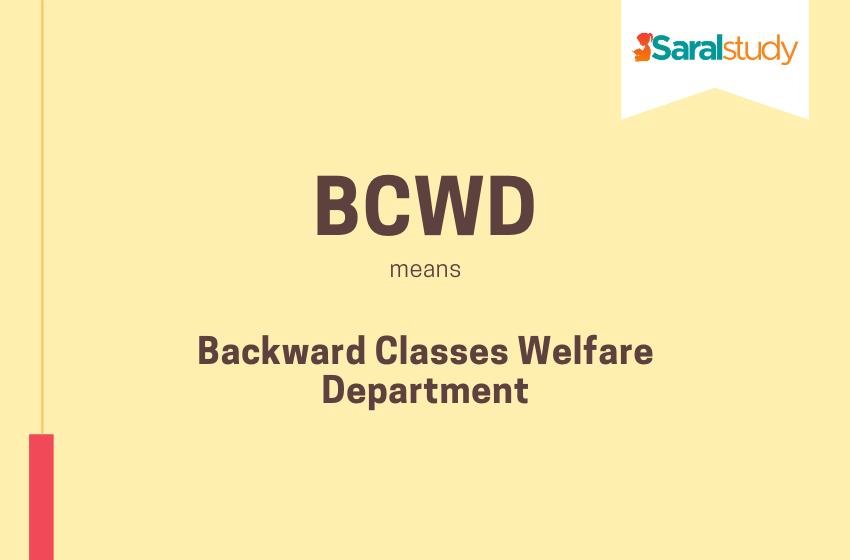Backward Classes Welfare Department