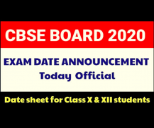 Pending CBSE 10th & 12th Board Exam Date-sheet Released on 18th May 2020